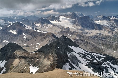 Blick vom Mont Taou Blanc, 3438 m