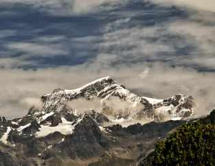 Grand Combin - kein Hausberg Aostas, aber immer im Blick - Foto: © Wolfram Mikuteit