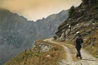 auf der ehemaligen Militärstraße hinunter zum Rifugio Barbara Lowrie - Foto: © Wolfram Mikuteit