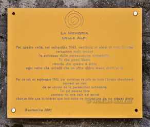 Gedenktafel am Colle di Finestra, 2.474 m - Foto: © Wolfram Mikuteit