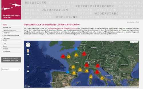 Gedenkorte Europa 1933 - 1945