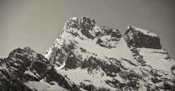 Blick auf den Monviso, 3.844 m, vom Refuge du Viso im Queras - Foto: © Wolfram Mikuteit