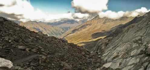 Col Vallante, 2.815 m, Grenzberg zw. Varaitatal und Queyras - Foto: © Wolfram Mikuteit
