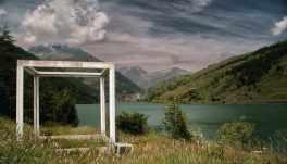 Kunst am Weg, Lago di Castello, Varaitatal - Foto: © Sabine Bade