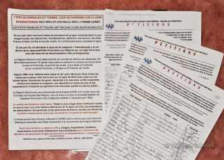 Petition gegen die Streckenstilllegung - Foto: © Wolfram Mikuteit