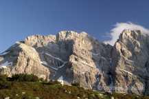 Blick auf die Punta Marguareis vom Rifugio Garelli - Foto: © Wolfram Mikuteit
