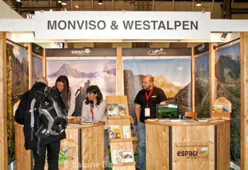 Monviso und Westalpen - Standt auf der CMT - Foto: © Sabine Bade