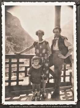 Teresita und Franz Elter, mit Sohn Giuglio