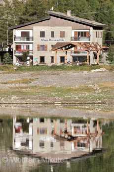 Rifugio Massimo Mila, am Lago di Ceresole. Foto: © Wolfram Mikuteit