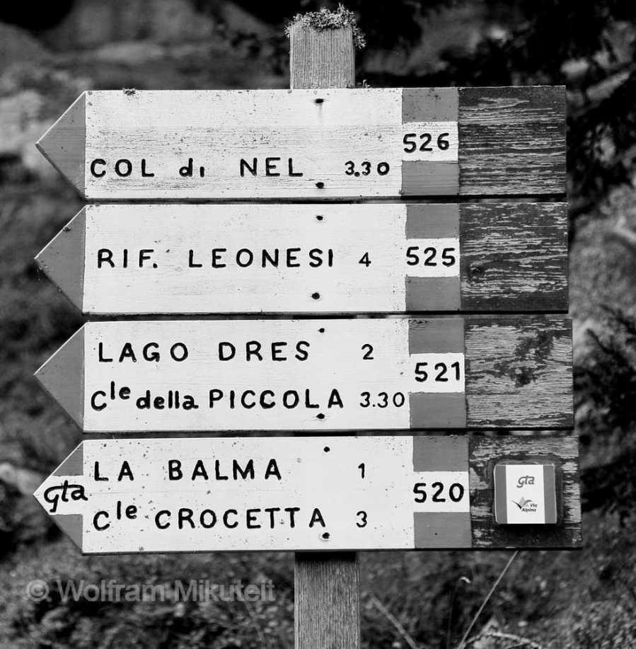 Auf dem Weg '520', auf dem auch ein Teilstück von GTA und Via Alpina verlaufen, in drei Stunden hinauf. Foto: © Wolfram Mikuteit