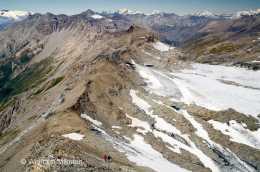 auf dem Rocciamelone mit Blick nach Norden - Foto: © Wolfram Mikuteit