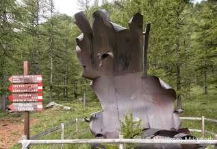 Denkmal für verschüttete Minenarbeiter - Foto: © Wolfram Mikuteit