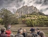 zu Beginn der Exkursion oberhalb von Sambuco mit Blick auf den Monte Bersaio - Foto: © Wolfram Mikuteit