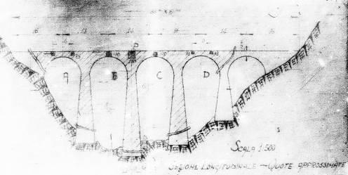 Ponte dell'Arnodera - Skizze mit Sabotagehinweisen